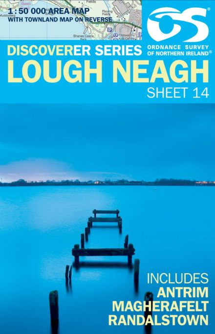 Ordnance Survey Northern Ireland 1:50,000 - Map 14 - Lough Neagh (Antrim,Magherafelt)